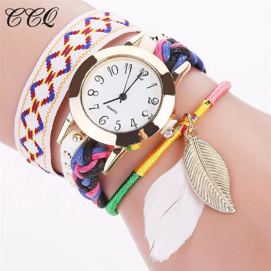 CCQ Fashion Women Multicolor Wrist Watches Ladies Bohemian Style Bracelet Watch Quartz Watch Relogio Feminino Drop Shipping handmade girls tutu dress flower girl dresses halloween costume children kids tulle dress for pageant party prom photo vestidos