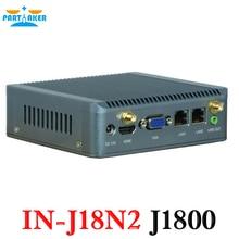 Причастником Заводская распродажа Nano Bay Trail безвентиляторный мини-компьютер двухъядерный J1800 мини-ПК с двойной LAN X86