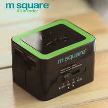 M Square Travel Accessories for Universal Electrical Plug  Travel Adapter Power Socket Converter Outlet USB Charger Adaptor