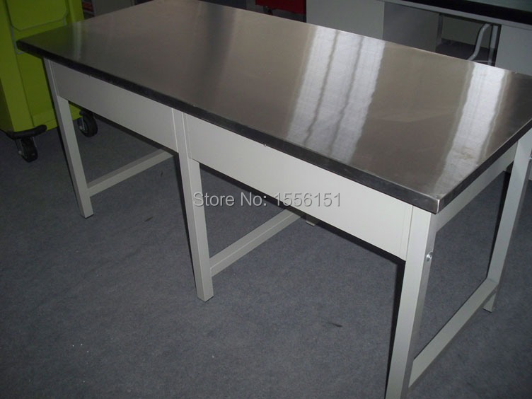 Stainless Steel Top Worktableworkbenchworkstation With Four - Stainless steel work table with drawers
