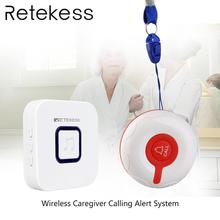 Retekess kablosuz çağrı sistemi acil çağrı cihazı kablosuz kapı zili alıcı ve su geçirmez düğme yaşlı hasta hemşirelik