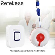Retekess sistema de chamada sem fio de emergência pager campainha sem fio receptor e botão à prova dwaterproof água para idosos paciente enfermagem