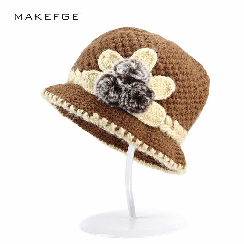 Aliexpress.com: Comprar Marca Beanies Knit invierno de flores de ...