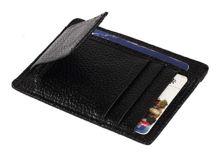 Nueva billetera con clip para billetes de cuero genuino para hombre con pinza magnética para dinero y bolsillo funda para tarjeta de identificación ranuras para tarjetas para hombre