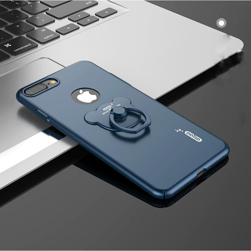 cheaper 1db31 8525b US $9.98 |GOESTIME High quality PC material phone case with cute bear Metal  Finger Ring Holder phone cover shell For iphone 7/7plus on Aliexpress.com  ...