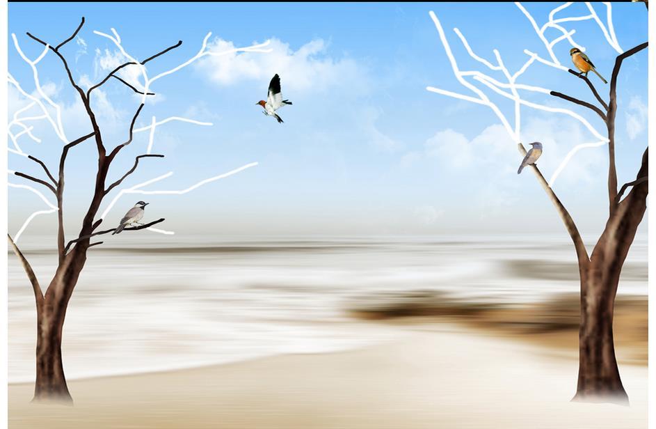 Amazon.com: Haehne - Landscape Abstract Oil Painting, Sunrise Over ...