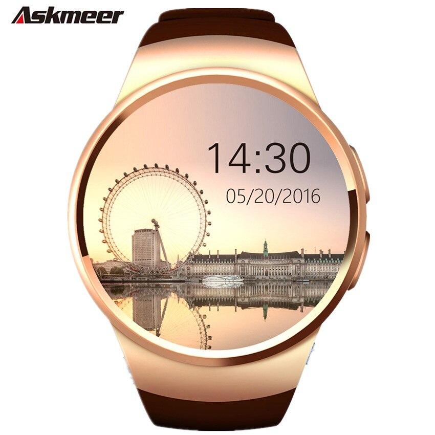 ASKMEER KW18 montre intelligente hommes prise en charge carte mémoire SIM Bluetooth appel fréquence cardiaque podomètre sport modes Smartwatch pour IOS Android