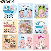 DIAPAI Diamond Painting 5D DIY Full Square/Round Drill Cartoon baby text 3D Embroidery Cross Stitch Decor Gift