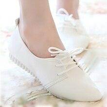 Модная новинка Женская обувь на плоской подошве высокое качество винтажные женские балетки на плоской подошве женские оксфорды Весна-осень Осенняя обувь KJG00074724