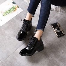Winter Women Pumps Boots High Quality Lace-up European Ladies shoes