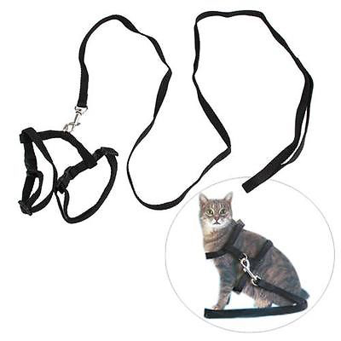Cat Harness And Leash Nylon Products Animals Adjustable