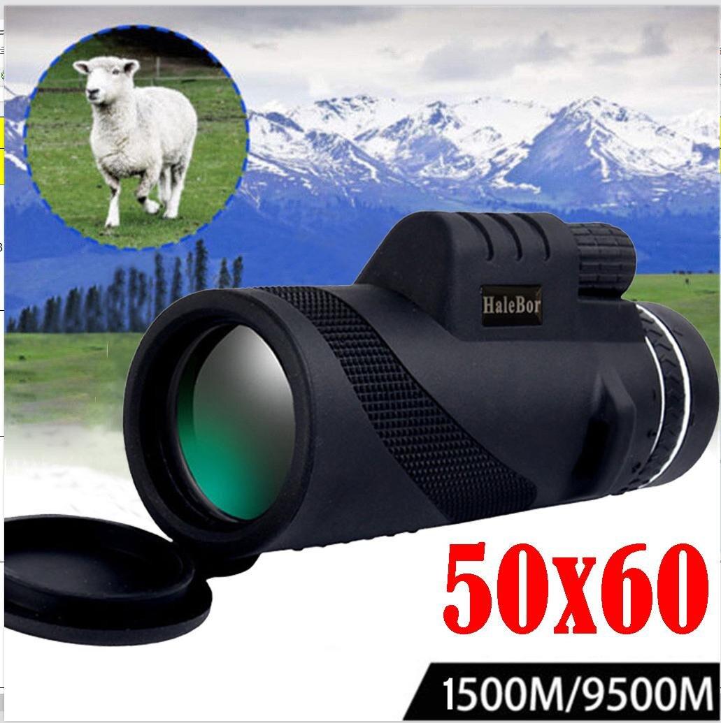 50X60 Telescópio Monocular HD Portátil mini Shimmer Night Vision Scope Caminhadas Ao Ar Livre Revestimento de Lentes do Telescópio para a caça