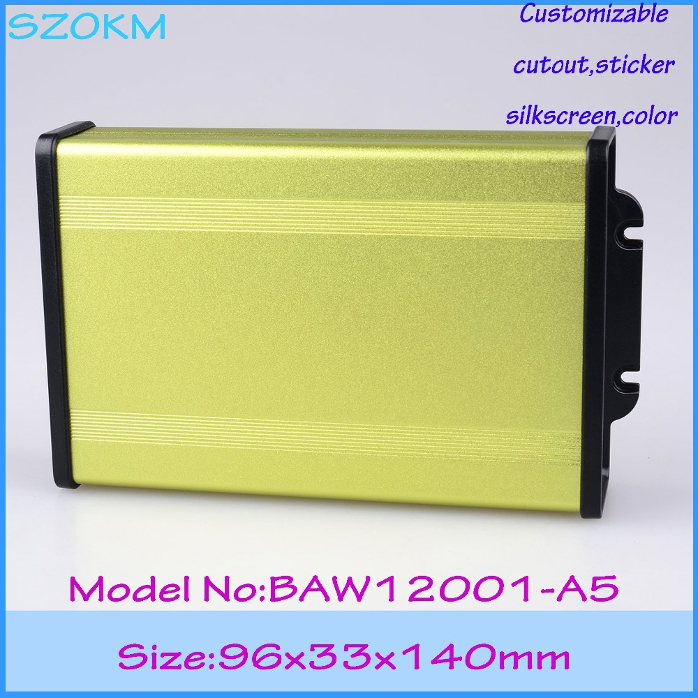 extruded aluminum pcb box 96*33*140 mm case aluminium enclosure ip65