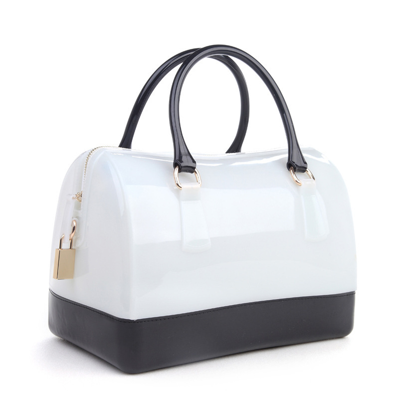 Multifunction Recycle Silicone Rubber Woman Bag Beach Handbag Pink Blue Yellow Black White Mixture Color Casual Women Tote In Totes From Luggage Bags On