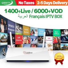 Код IP tv подписка 1 год QHD tv Leadcool Android 8,1 ТВ коробка RK3229 1 + 8 г IP tv Франция Бельгия Нидерланды Android Box IP tv