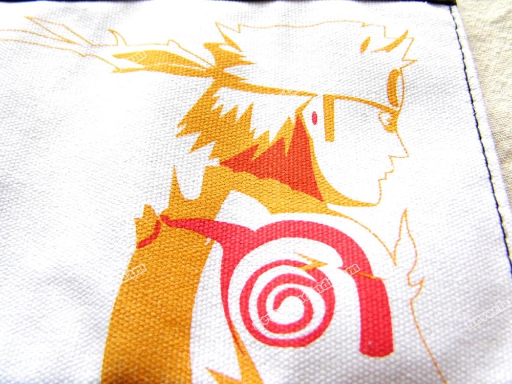 9.8/25cm Canvas+PU Scroll Bag With Anime NARUTO Shippuden Uzumaki Naruto Konoha Mark