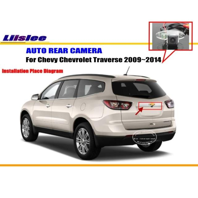 liislee for chevrolet chevy traverse 2009~2014 reverse back upliislee for chevrolet chevy traverse 2009~2014 reverse back up camera parking camera ntst pal license plate light camera