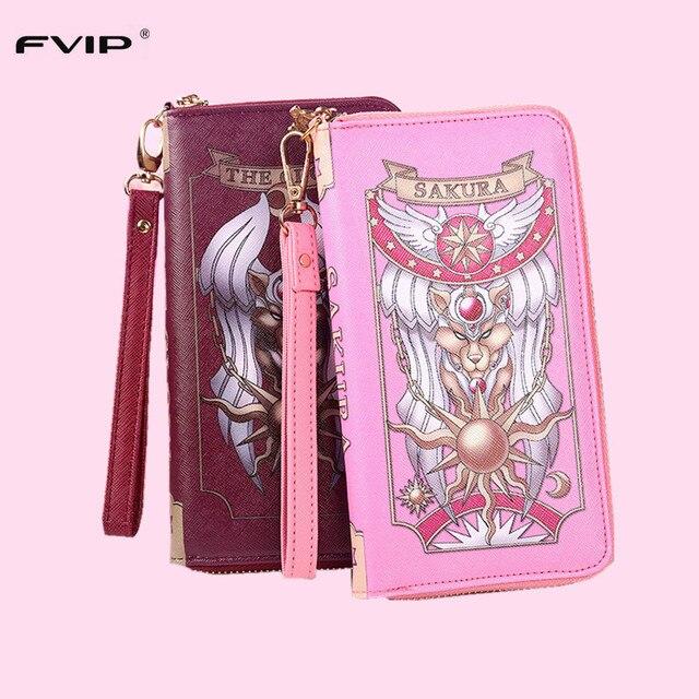 Japón anime Sakura captor de la tarjeta carpeta Niñas cute Sakura cardcaptor bolsos carpeta larga grimoire Cosplay Clow bolso