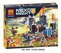1171 Шт. 10490 Nexus Рыцари Fortrex Замок Модель Строительный Блок Игрушки Fox Axl Совместимость 70317 кирпичи Образовательные