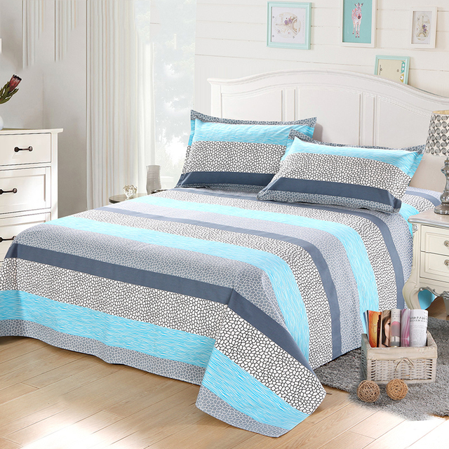 Bed Sheet 100% Cotton 1Pcs Bedding Set Bed Linen King Size 230*230cm For