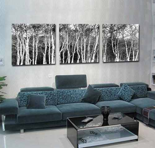3 pcs / set Hot Selling  white black Trees Canvas Art Modern Home Wall Decorative Painting HD Print Painting