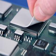 Охлаждающая Теплопроводящая силиконовая прокладка теплоотвод процессора охлаждающая проводящая силиконовая прокладка 1 шт. 100x100x1 мм чип GPU cpu теплоотвод