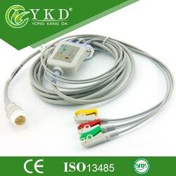 2 قطعة/الوحدة قابلة لإعادة الاستخدام 3 يؤدي ecg كابل مع IEC كليب ل Mindray