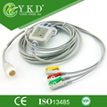 Reusable patient monitor 3 Leads ECG cable with clip terminals for Mindray