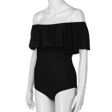 Maternity Ruffle Off Shoulder One Piece Swimsuit