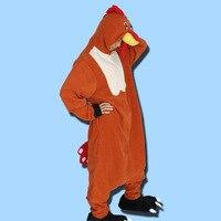 Brick Red Rooster Winter Unisex Kigurumi Light Adult Pajamas Cosplay Costume Animal Onesie Sleepwear Adult Pyjamas