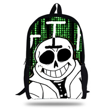2018 Newest Classic Game Undertale Printing Children School Bags Boys Teenage Girls character Sans&asriel&Torie Casual Backpacks 2018 newest backpack overwatch hot pc game trecer reaper printing children school bags boys teenage girls casual backpacks