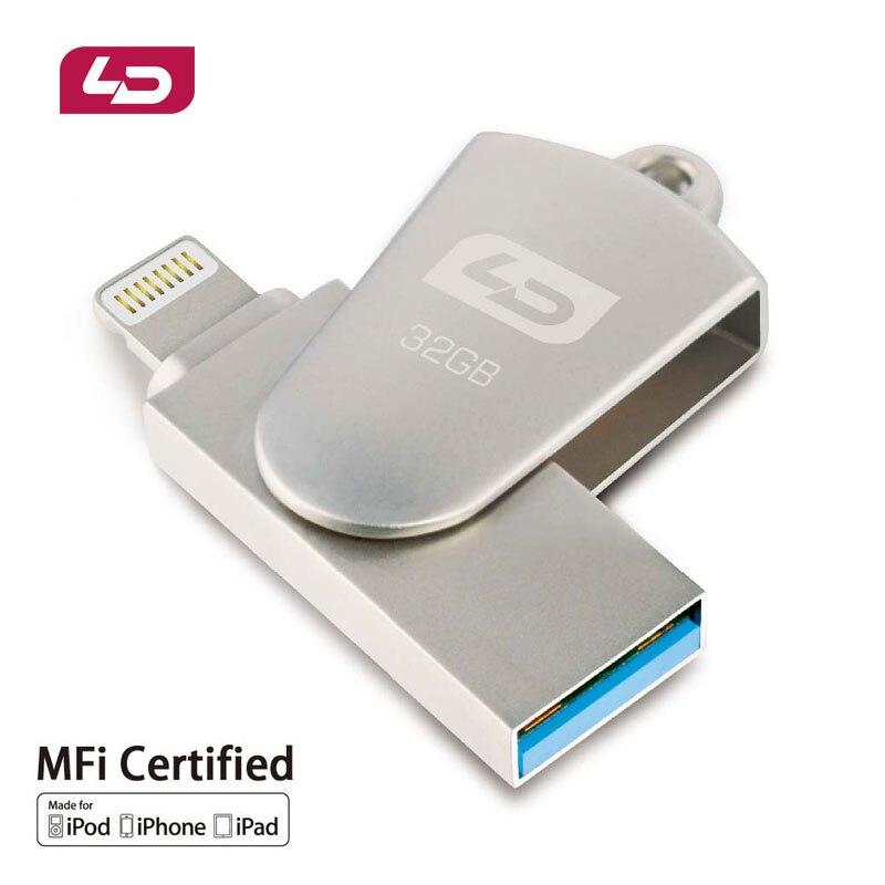 LD OTG USB Flash Drive 64GB 32GB 16GB Pen Drive USB 2 0 U Disk Memory