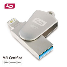 Ld otg usb flash drive de 64 gb 32 gb 16 gb pen drive usb 2.0 u disco de memoria del palillo de iphone/ipod/ipad air/ipad mini/mac