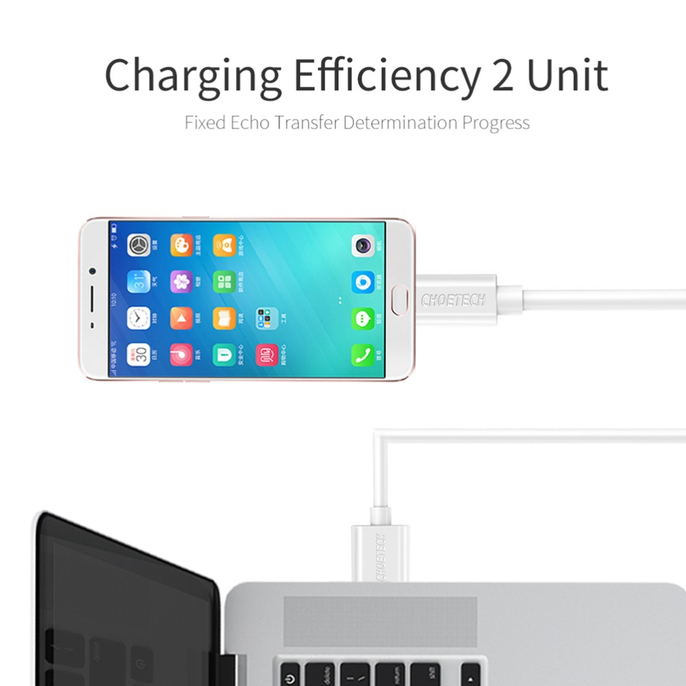 Image 2 - Choetech Micro Usb Cable 5V 2.4A USB Fast Charging 1M 0.5M TPE Cable Mobile Phone Cables For Xiaomi Huawei Android Phone Cable-in Mobile Phone Cables from Cellphones & Telecommunications