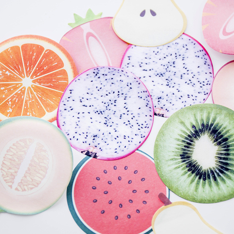 2Pcs Fruit Watermelon Apple Cute Kawai Kiwi Pear Funny Memo Pad Stationery Store Office Post it Sticky Note Kit Notepad Sticker