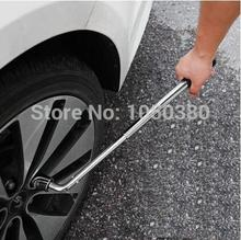 Cheaper Extending 35-50cm telescoping lug wheel brace master wrench set universal sockets adapter 17192123mm Tire Repair  Hand Tool