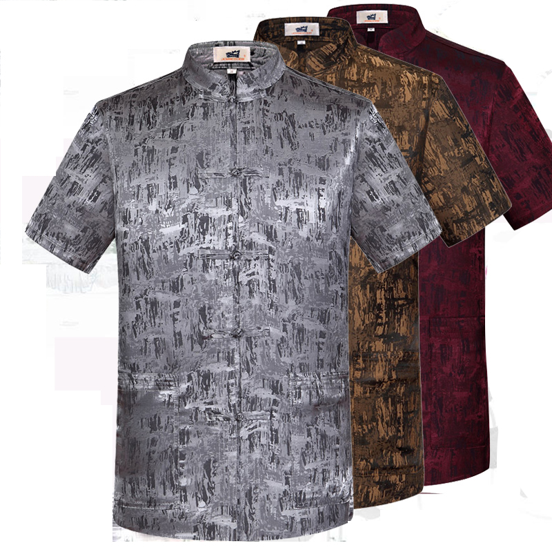 4a49ebddd83d7 Oriental Element 100% Brand New Arrival Chinese Traditional Men s Silk Kung  Fu Shirts Tops S M L XL XXL 3XL MS0625010-in Casual Shirts from Men s  Clothing ...