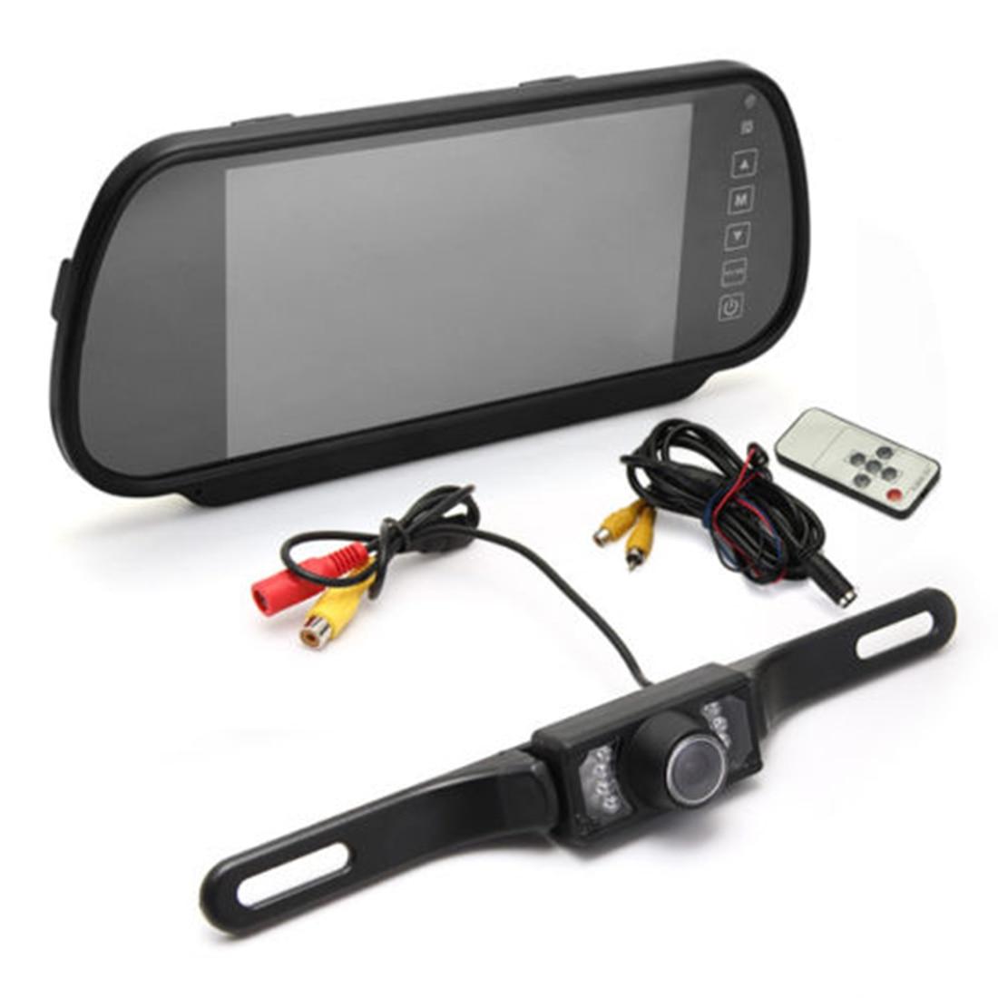Marsnaska Лидер продаж 2016 года 7 дюймов tft ЖК-дисплей широкий Экран заднего вида Парковка зеркало монитор + светодиодный Камера высокое качество
