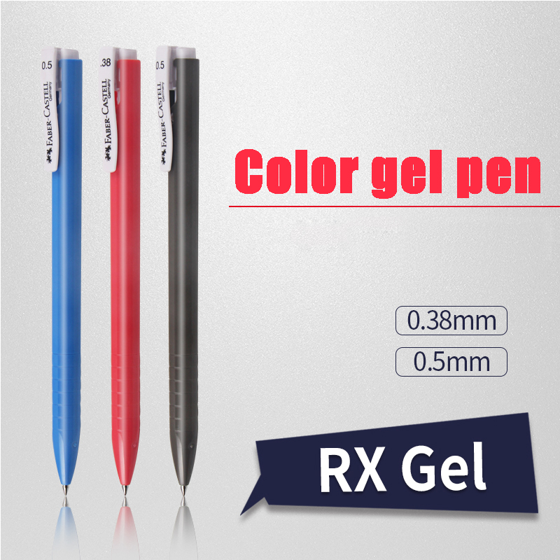 Faber Castell RX Gel Pen with 0.5mm tip blue ink 6 pens set for daily use