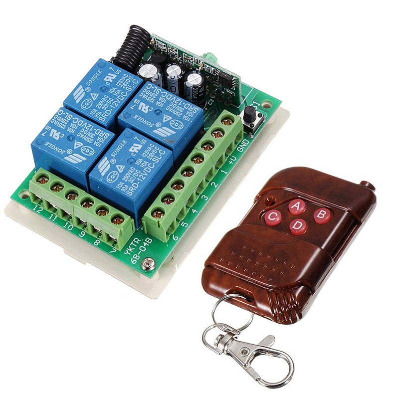 4 Channel Wireless Remote Control Switch Relay Transmitter DC 12V RF 4CH Receiver Popular james patterson michael ledwidge tick tock