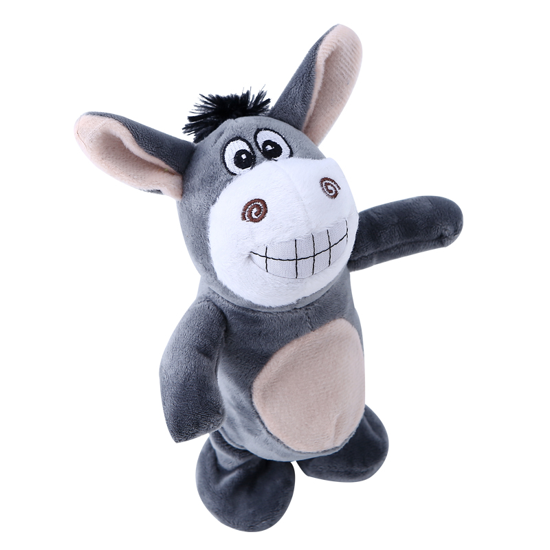 Симпатичный плюшевый осел говорить недди кукла шагающий робот фигурку животного раннего образования электронные ПЭТ-игрушка с Музыка пода... ...