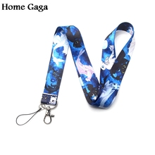 Homegaga how to train your dragon toothless light fury keychain lanyard ribbon neck strap phone holder necklace D1738