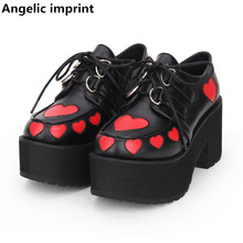 Pumps Women Party-Shoes Angelic Imprint Princess-Dress High-Heels Lolita Lady Lovely