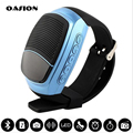Bluetooth3.0 + edr smart watch música smart watch altavoz inalámbrico bluetooth altavoz portátil tarjeta tf fm radio mp3 tiempo de visualización