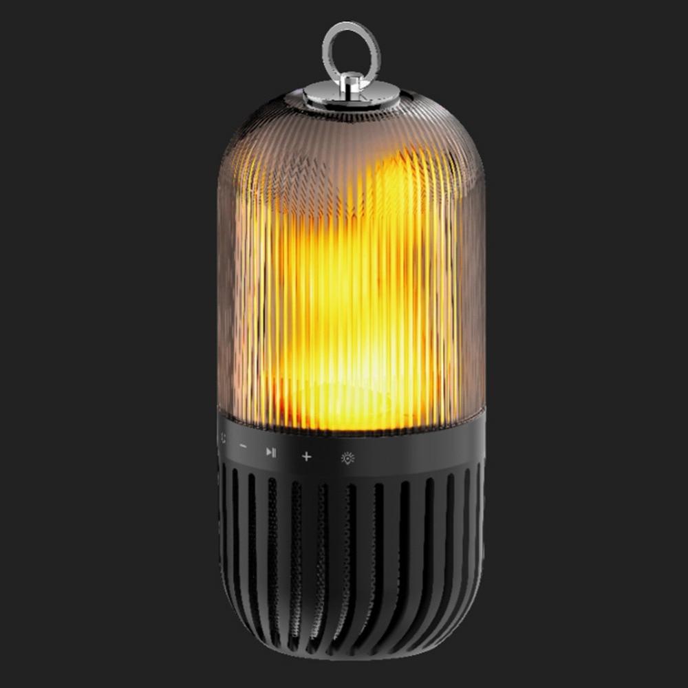 Lâmpada de chama led portátil alto falantes