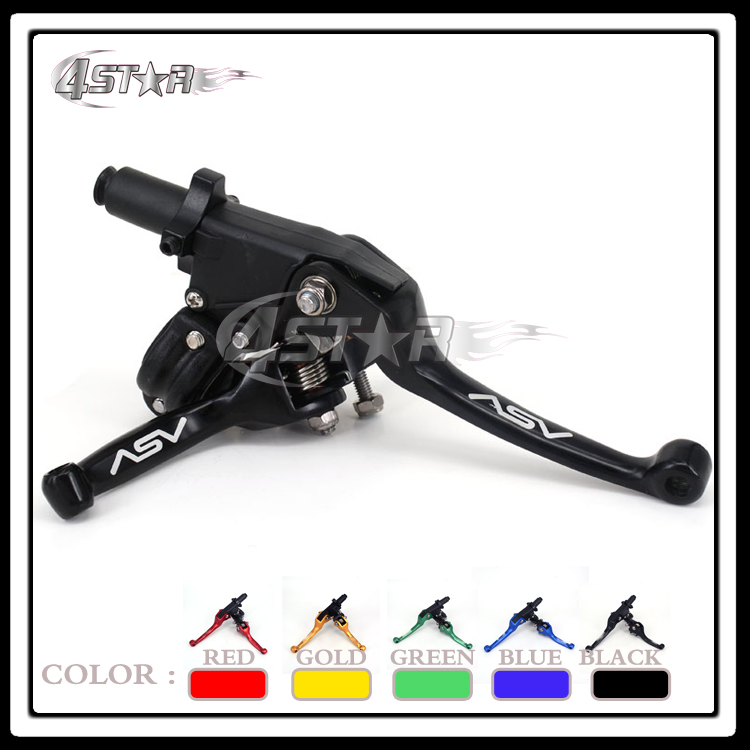 Alloy ASV F3 2ND Clutch & Brake Folding Lever Fit Most Of Motorcycle ATV Dirt Pit Bike XR CRF KLX YZF RMZ Free Shipping! alloy aluminum clutch lever brake lever fit crf klx apollo xmotos kayo pit dirt bike parts free shipping xmotos abm racer
