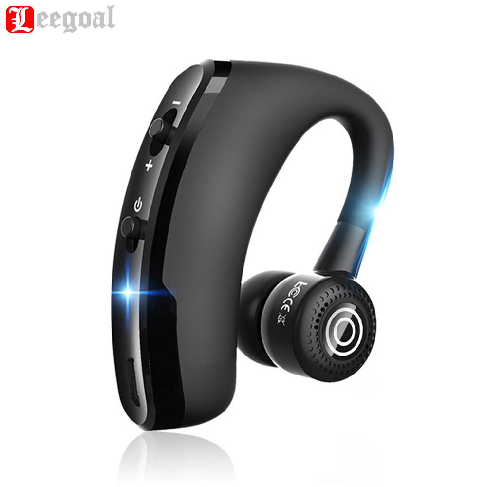 Leegoal V9 manos libres inalámbrico Bluetooth auriculares Control de ruido negocios inalámbricos Bluetooth auriculares con micrófono para el conductor deporte