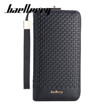 Baellerry Men Business Long Solid Handbag Porta Wallet Coin Pocket Card Holder Photo Holder Wallet Zipper PU Leather Business baellerry men solid black long wallet pu leather zipper n rope wallet coin pocket card holder photo holder business wallet men