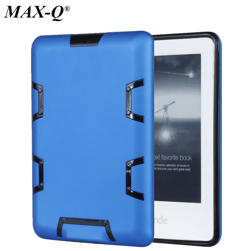 MAX-Q Case for Amazon Kindle paperwhite 3 2 1 capa funda Shockproof Hybrid Heavy Duty PC + TPU cover Kids Safe Armor cases
