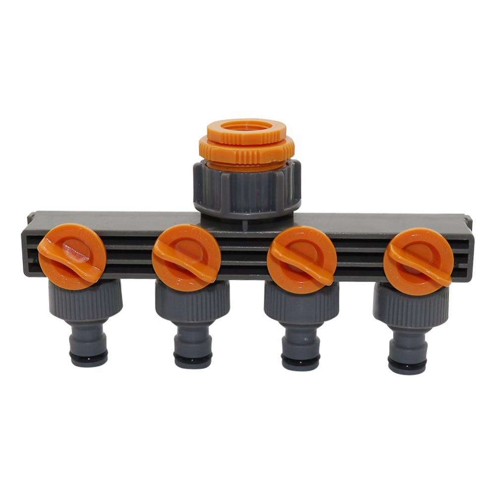 """1 """"to3/4"""" to1/2 """"Binnendraad 4 Manier Slang Splitters Voor Automatisch Sproeisysteem Water pijp Linker Timer Tuin Water Irrigatie Tool"""